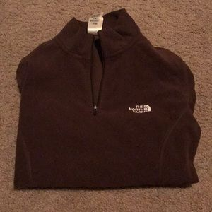 The North Face pullover chocolate brown